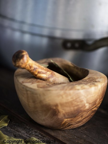 Olive wood pestle and mortar Ib Laursen