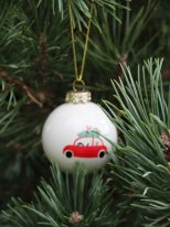 Christmas ball red car, christmas style, Ib Laursen