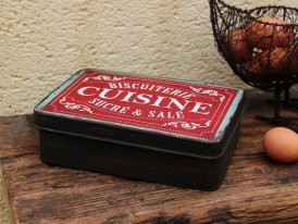 Metal box Biscuiterie Cuisine, antique decor, Antic Line