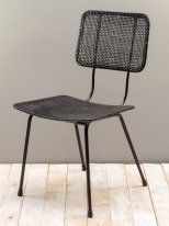 Black rattan chair Doto Chehoma