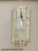Glass and brass hanging lamp Sostrene
