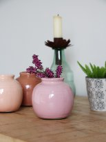 Crackled ceramic mini vase Pink, Ib Laursen