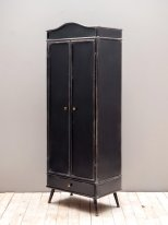 Antique black metal cabinet Orléans Chehoma