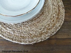 Set de table rond jute naturel Ib Laursen, déco naturelle