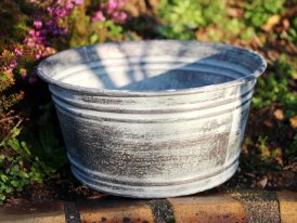 Large zinc basin Santa Monica, countryside decor, Krentz
