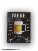 Metal sign Bière, bistro style, Antic Line