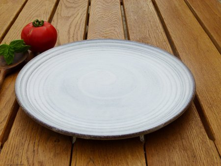 Stoneware dinner plate grey, natural style, Madam Stoltz