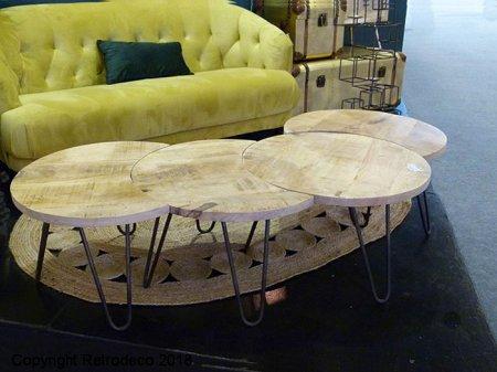 Table Athezzahan 516184 Et Nest Métal Bois Basse 5S3qRcAjL4