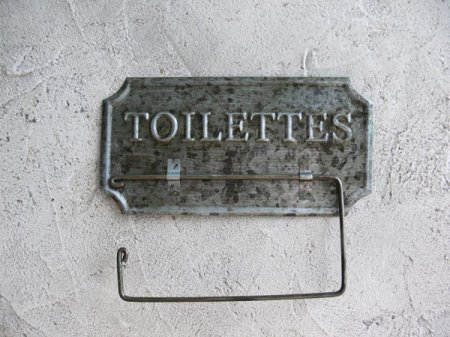 Support papier toilettes zinc, déco brocante, Antic Line