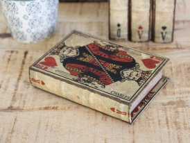 Cards game box Roi de Coeur, antique decor, Antic Line