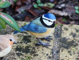 Resin blue tit, country decor, Chehoma