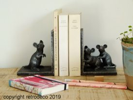 Bookends mice, antique style, Chehoma
