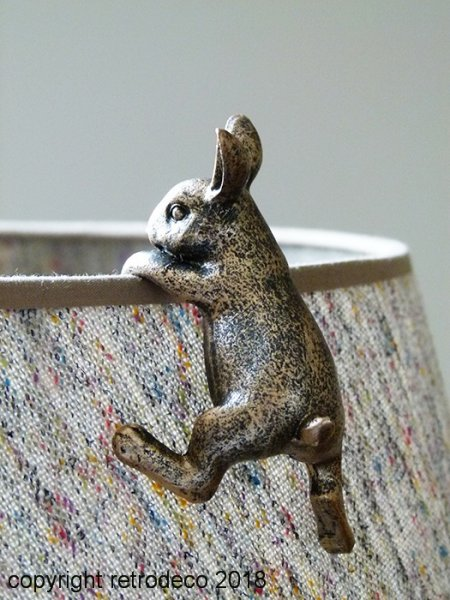 Rabbit for lampshade, antique style, Chehoma