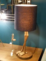 Antique gold lamp Anda with lampshade, antique style, Chehoma