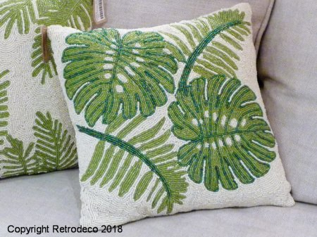 Coussin Feuillage, déco jungle urbaine, Chehoma
