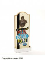 Wall mounted bottle opener Pizza Bière Foot, bistro style