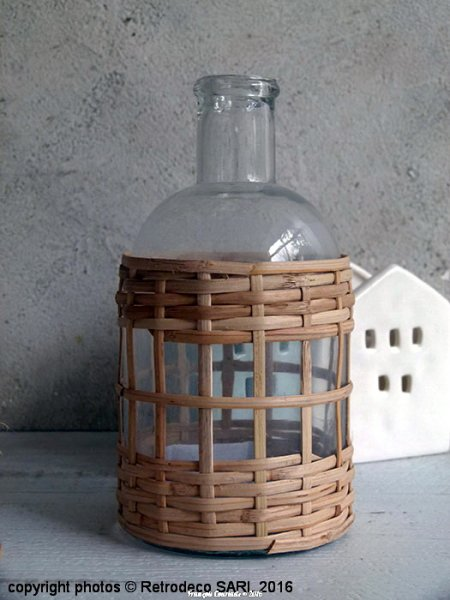Large bottle with bamboo, scandinavian deco, Madam Stoltz