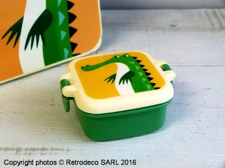 Mini boîte crocodile, déco vintage, Rex International
