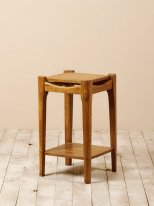 Mango end table Alfons, antique style, Chehoma