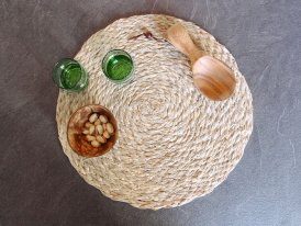 Natural seagrass straw placemat, natural decor, Madam Stoltz