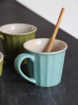 Stoneware mug Mynte Green Tea, cosy decor, Ib Laursen