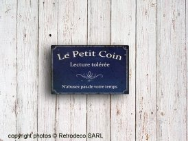 Metal Sign Le petit coin Antic Line