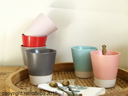 Set de 6 mugs coloris Pastel Athezza