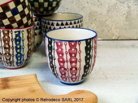 Ceramic expresso cup Paragon (ref.2), ethnic chic style, Chehoma