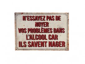 Metal sign N'essayez pas, bistro style, Antic Line