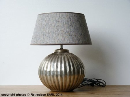 Spheric hammered metal Lamp, ethnic chic, chehoma