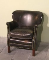 Fauteuil cuir Turner Camden, déco brocnate, Chehoma