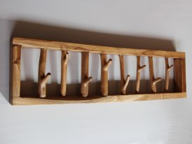 Wooden rustic coat rack, country decor, Chehoma