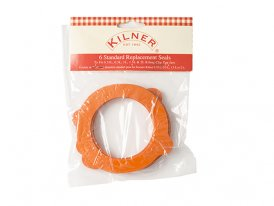 Pack of 6 standard rub seals for glass jar Kilner