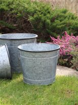 Medium zinc pot Urban Garden, country decor, Ib Laursen