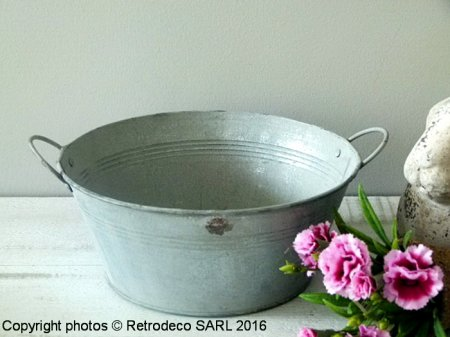 Bassine Chartwell zinc MM, déco campagne, Tobs
