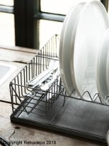 Zinc rectangular dish rack Ib Laursen