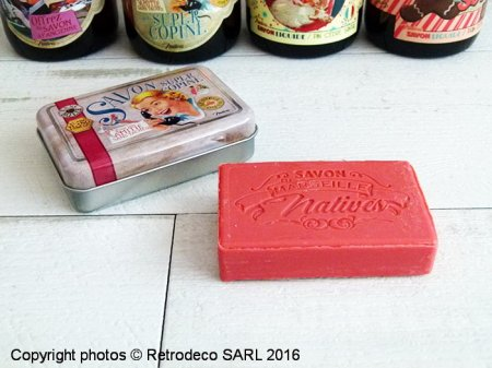 Soap La Super copine in a metal box, gift idea, Natives