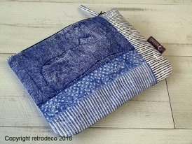 Large fabric pouch with patchwork pattern Anhad