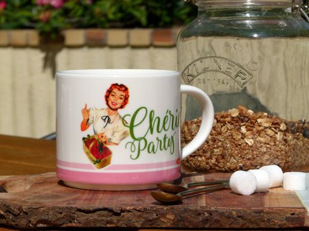 Mug Chérie Party, déco fifties, Natives Deco