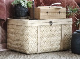 Bamboo suitcase, natural decor, Ib Laursen