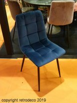 Set of 2 velvet chairs Manta Bleu nuit Hanjel