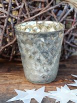 Large silver candle jar Ananas, christmas decor