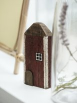 Wooden house burgundy, seaside decor, Ib Laursen
