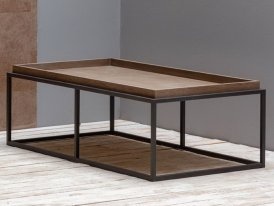 Iron and veneer coffee table Etarcos Chehoma