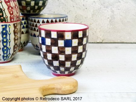 Ceramic expresso cup Paragon (ref.1), ethnic chic style, Chehoma