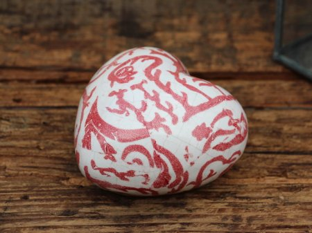 Ceramic paperweight red heart