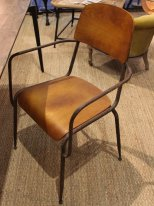 Metal and wooden chair, antique decor, Chehoma
