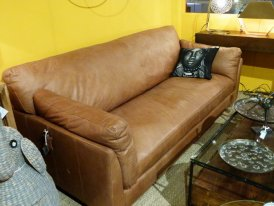 Camel leather sofa Winston 3 seats Chehoma