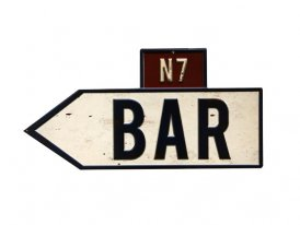 Metal sign Bar, bistro style, Antic Line