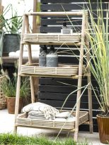 Bamboo display with 3 trays, country style, Ib Laursen